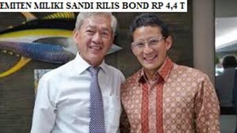 Emiten Milik Sandi Rilis Bond Rp 4,4 T